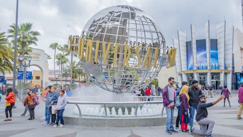 Hollywood Universal Studios, Kalifornien April 4th, 2019 royaltyfria foton