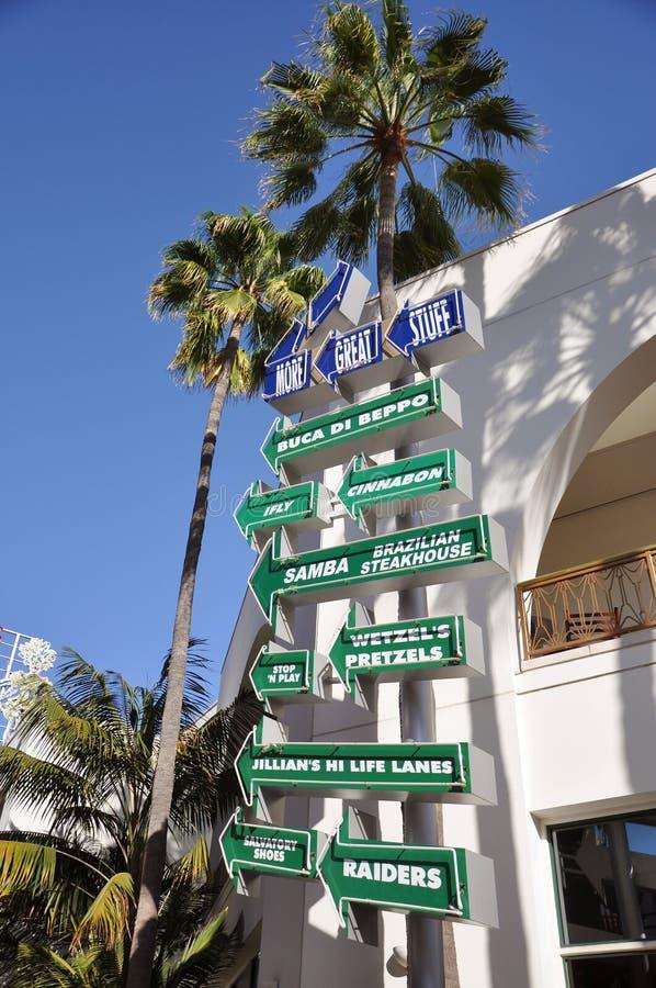 Hollywood universale Citywalk fotografia stock