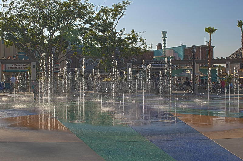 Download Hollywood- USA, October, 3: Fountains Of Universal Studios Seen Editorial Image - Image: 41568850