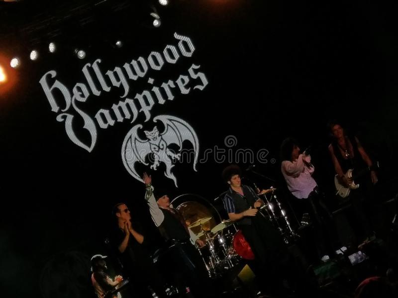 Hollywood Vampires concert stock images