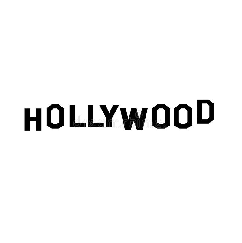 Hollywood vektorlogo royaltyfri illustrationer