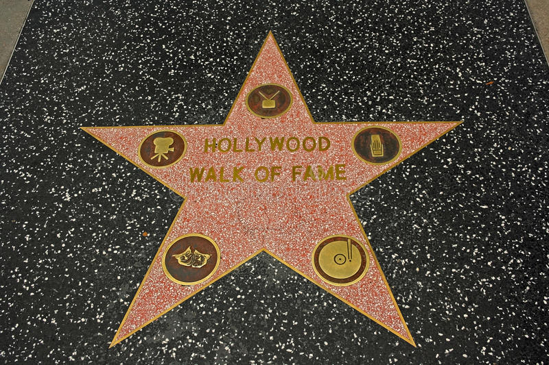 Hollywood Walk of Fame royalty free stock photography