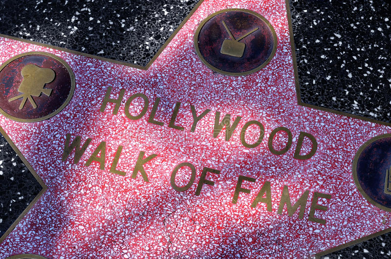Hollywood Walk of Fame in Los Angeles. LOS ANGELES - OCTOBER 15: Star of Hollywood Walk of Fame on October 15, 2011 in Los Angeles. There are more than 2,400 stock photos