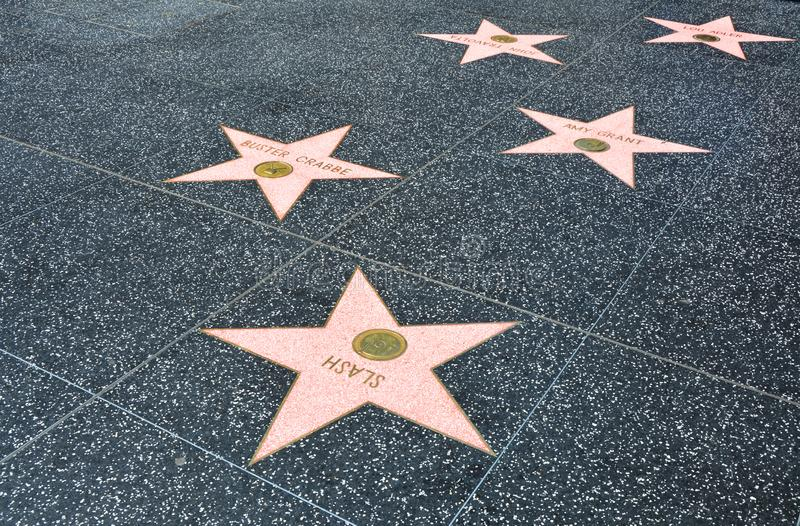The Hollywood Walk of Fame in Los Angeles royalty free stock photography