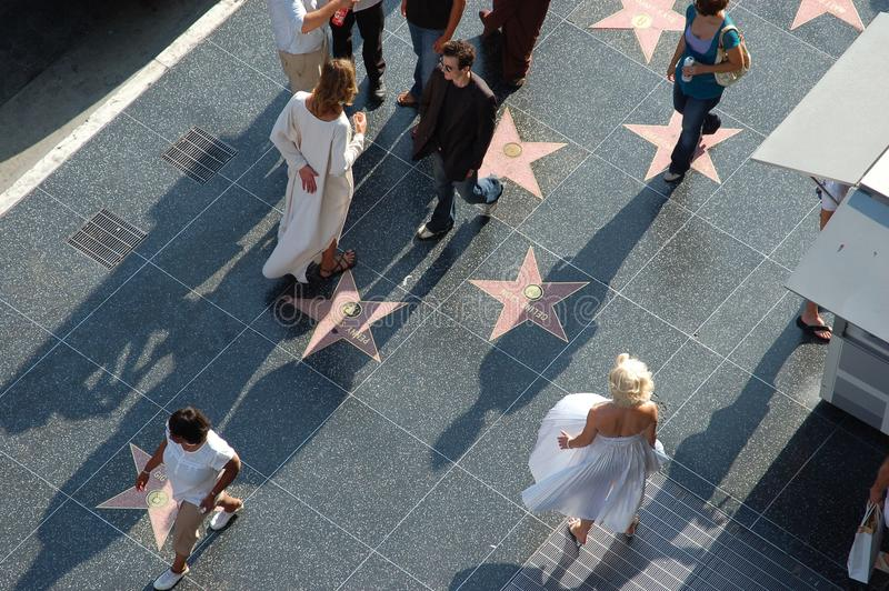 Hollywood - Walk Of Fame with Marilyn Monroe stock photography