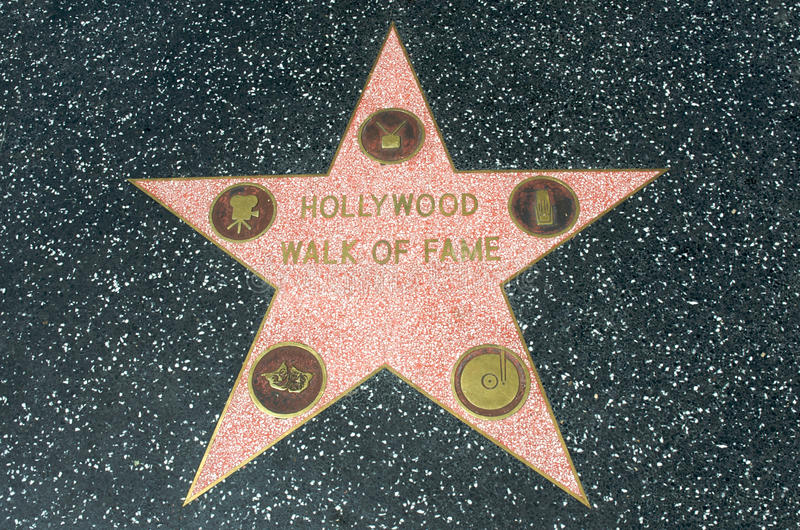 Hollywood Walk of Fame star royalty free stock photography