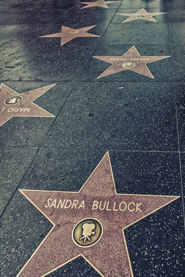 Hollywood Walk Of Fame Stars stock photos
