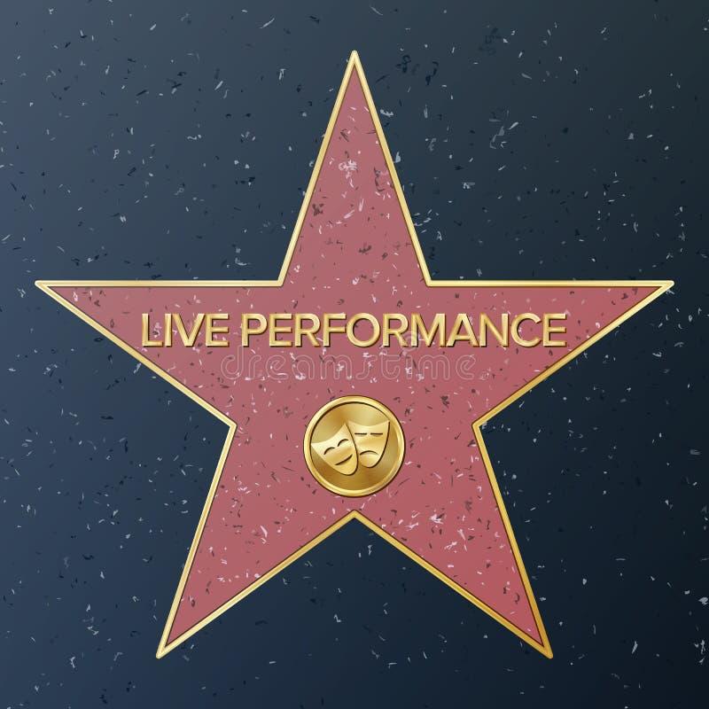 Hollywood Walk Of Fame. royalty free illustration