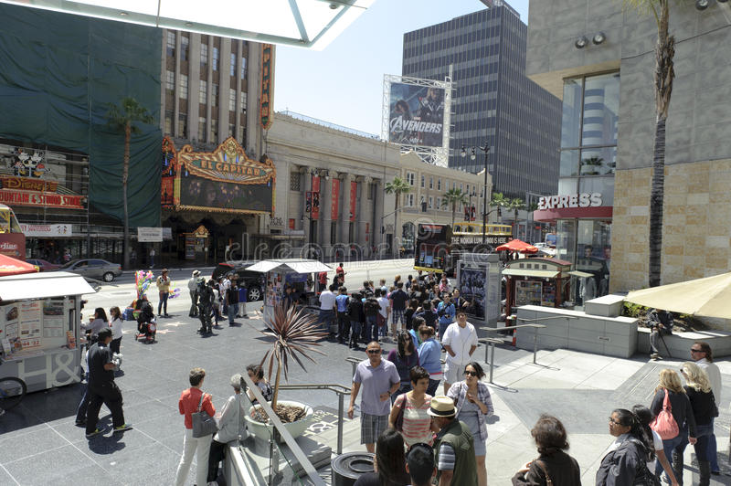 Download Hollywood Walk Of Stars In Los Angeles Editorial Image - Image: 24498665
