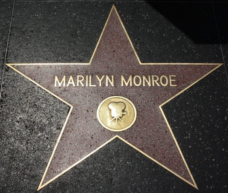 Hollywood-Weg des Ruhmes - Marilyn Monroe stockbilder
