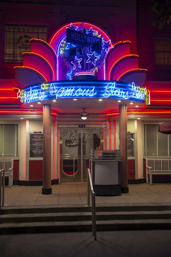 Hollywood & Wijnstokrestaurant, Disney World, Reis royalty-vrije stock fotografie