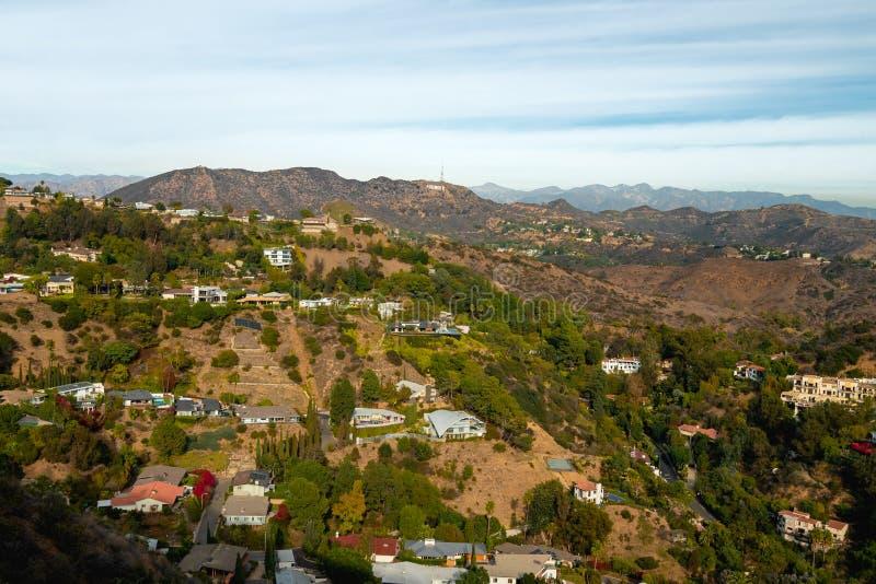 Hollywood wzgórza i Hollywood znak zdjęcia royalty free