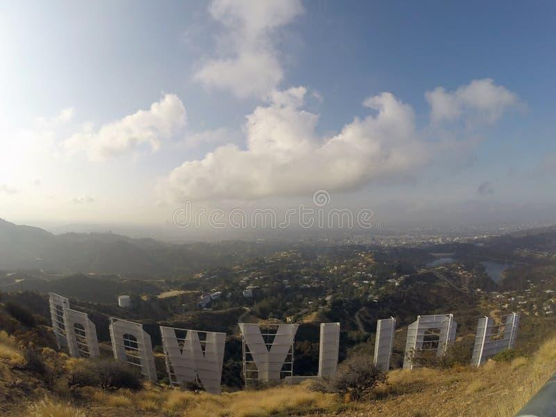 Hollywood znaka mgła obraz stock