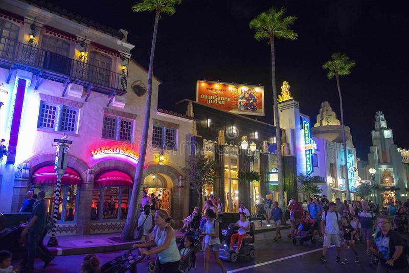 Hollywoodboulevard, Disney World, Reis stock foto's