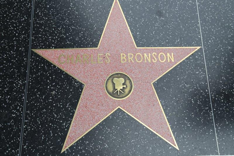 Hollywoodgang van Bekendheid - Charles Bronson royalty-vrije stock afbeelding