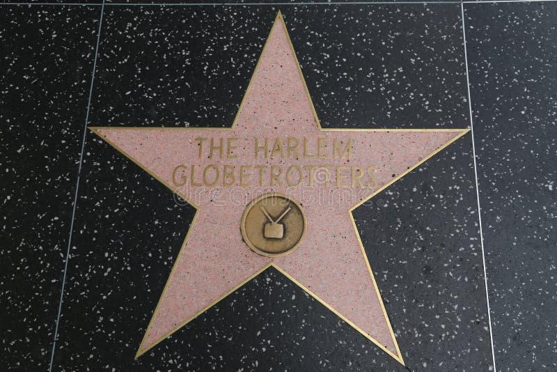 Hollywoodgang van Bekendheid - Harlem-Globetrotters royalty-vrije stock fotografie