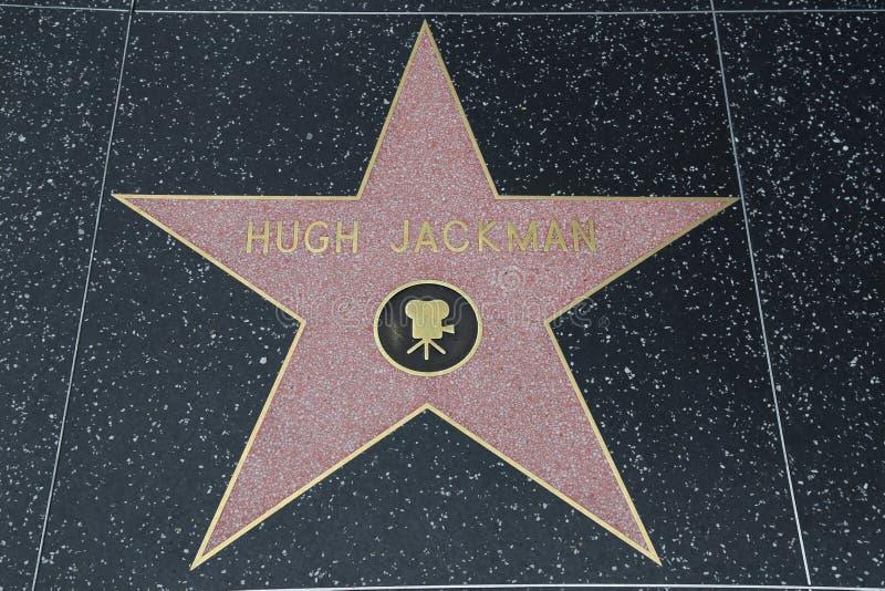 Hollywoodgang van Bekendheid - Hugh Jackman stock afbeeldingen