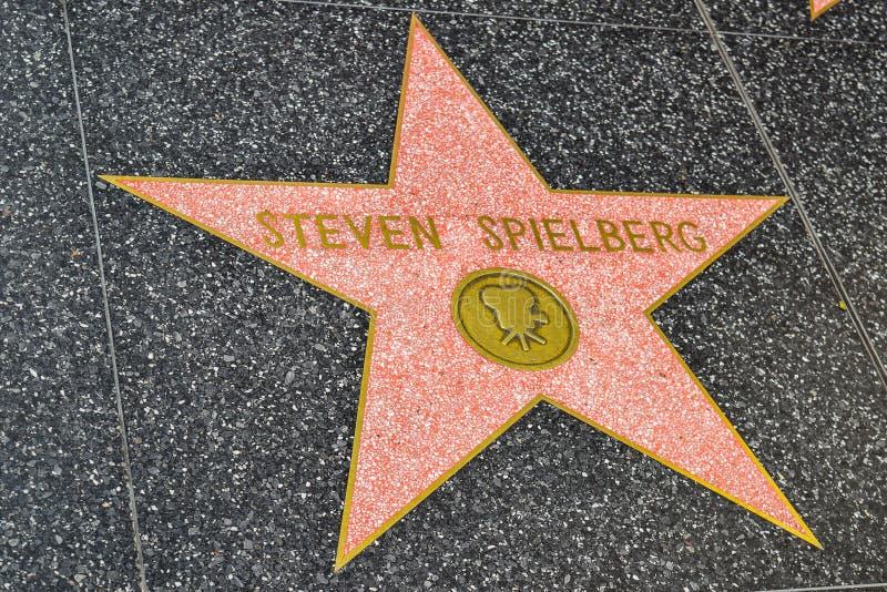 Hollywoodgang van Bekendheid Steven Spielberg royalty-vrije stock afbeelding
