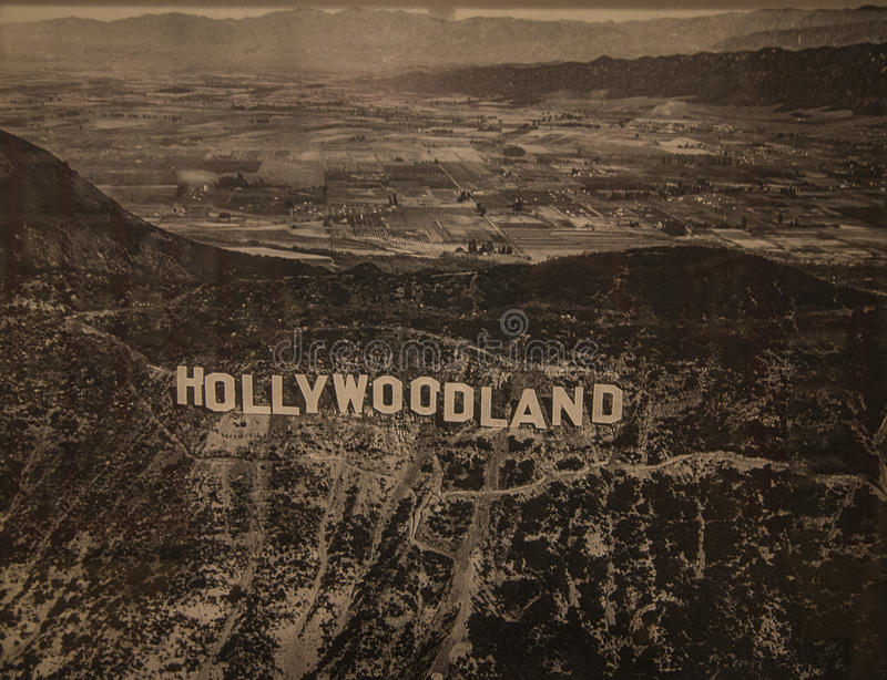 Hollywoodlandteken - Hollywood-Museum - Los Angeles royalty-vrije stock afbeelding
