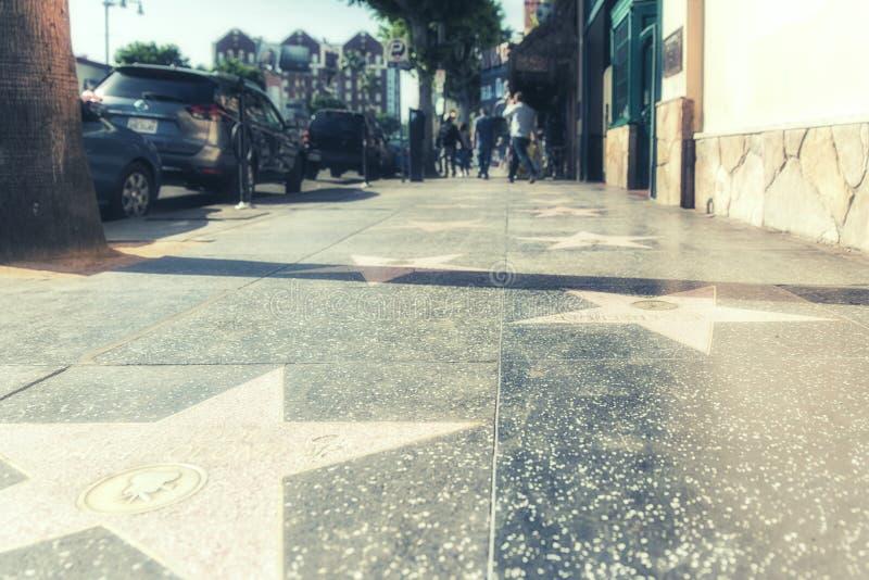 Hollywoodsterren op de gang van bekendheid in Los Angeles, Californië royalty-vrije stock foto