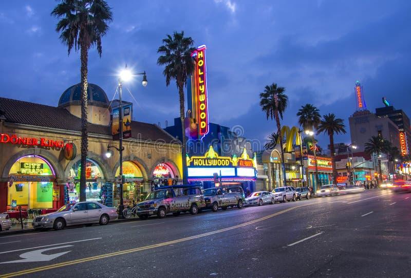 Hollywoodteken op de Gang van Bekendheid stock foto
