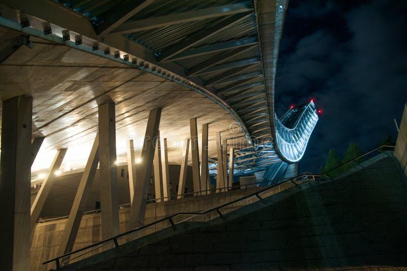 Holmenkollen ski jump in Oslo royalty free stock photo