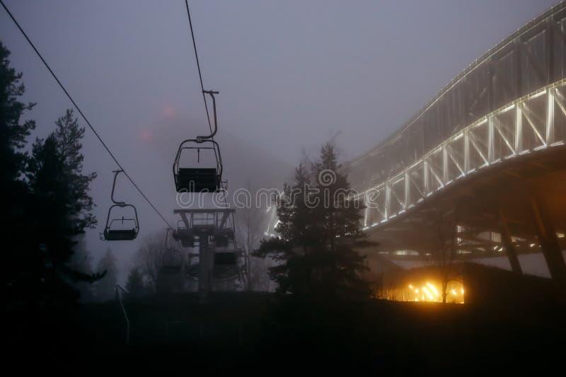 Holmenkollen Ski Jump Tower fotografía de archivo libre de regalías