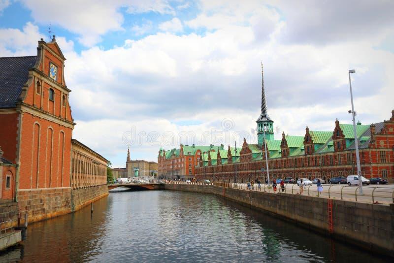 Holmens Bro bridge - Copenhaga central Dinamarca foto de stock royalty free