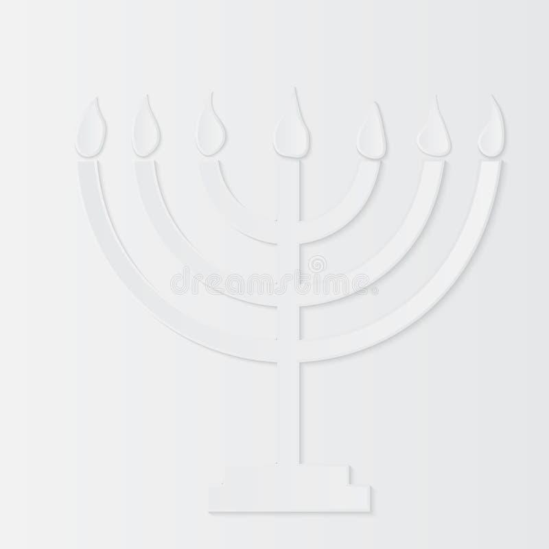 Holocaust-Erinnerungs-Tag, Papier-menorah Auch im corel abgehobenen Betrag stock abbildung