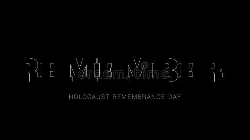 Holocaust-Erinnerungs-Tag, Volkstrauertag lizenzfreie abbildung