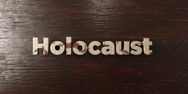 Holocaust - grungy hölzerne Schlagzeile auf Ahorn - 3D übertrug freies Archivbild der Abgabe stock abbildung
