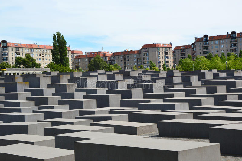 Holocaust Memorial also known as Memorial to the Murdered Jews of Europe, Berlin, Germany.  royalty free stock photos