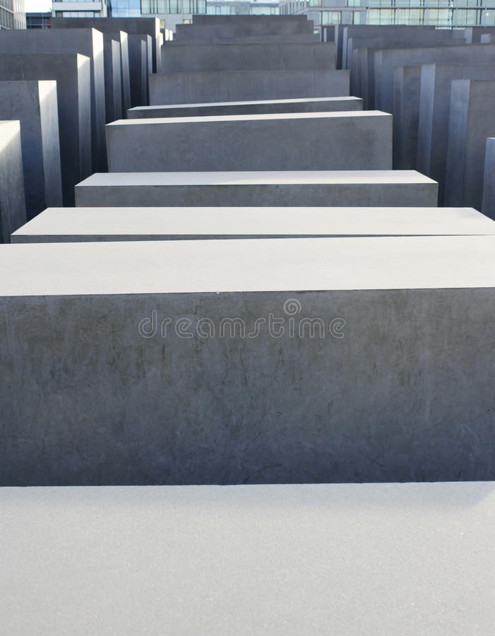 Holocaust Memorial, Berlin stock photography