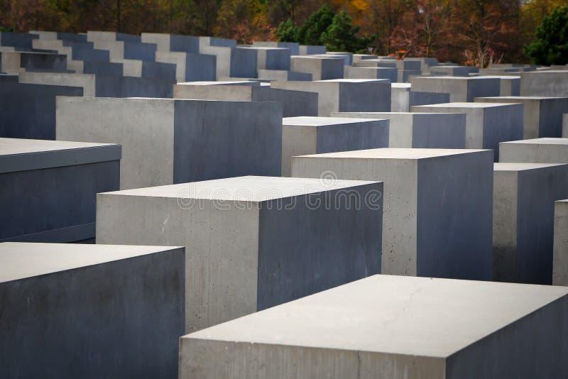 Holocaust Memorial, Berlin. The Holocaust Memorial in Berlin stock image