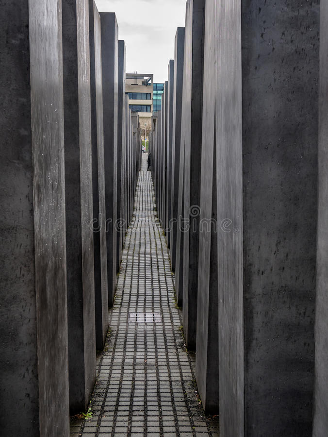 Holocaust memorial in Berlin, Germany stock photo