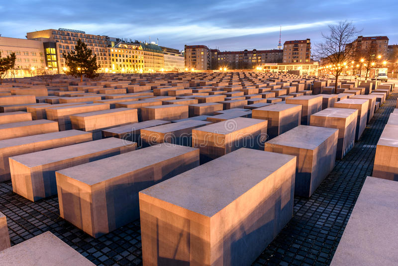 Holocaust Memorial Berlin Germany stock image