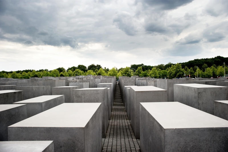 Holocaust Memorial in Berlin, Germany stock image