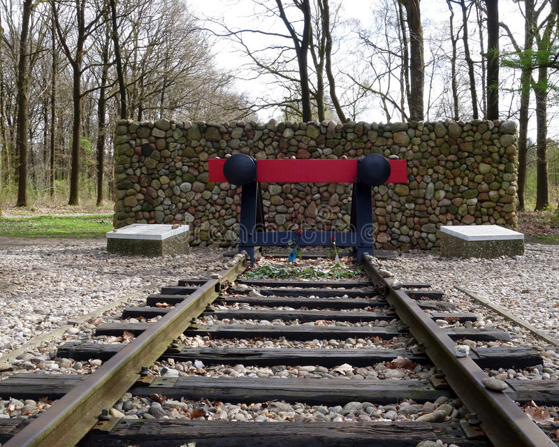 Holocaust memorial Camp Westerbork. Camp Westerbork in the east of the Netherlands (Drenthe) was a transit camp in World War 2. Some 102.000 people, mostly stock photo
