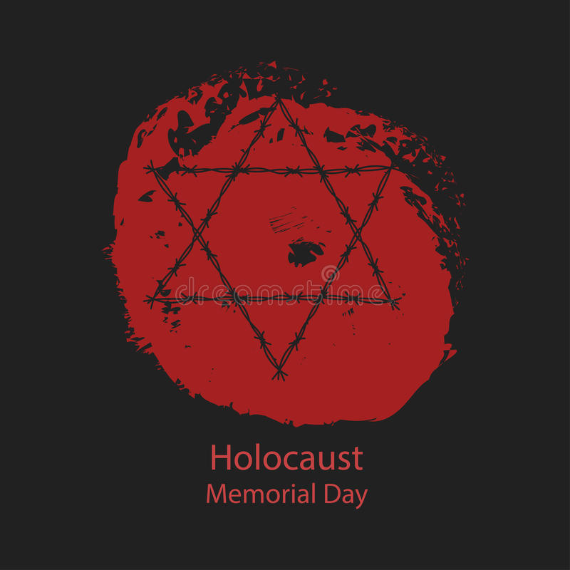 Holocaust Memorial Day lizenzfreie abbildung
