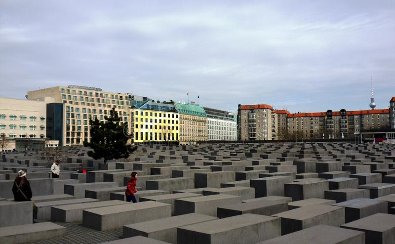 Holocaust Memorial - Overview royalty free stock image