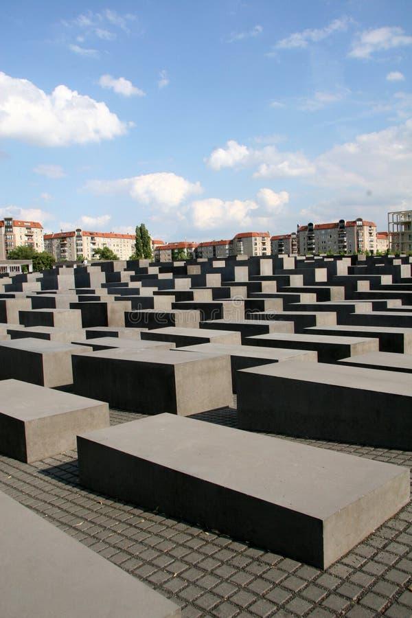 Holocaust Monument Berlin Germany stock photo
