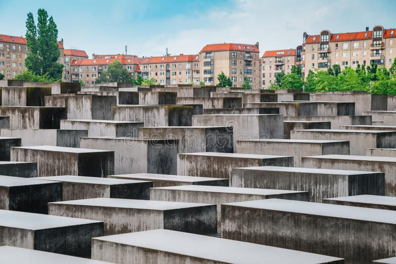 Holocaust monument, Memorial to the Murdered Jews of Europe in Berlin, Germany stock photography