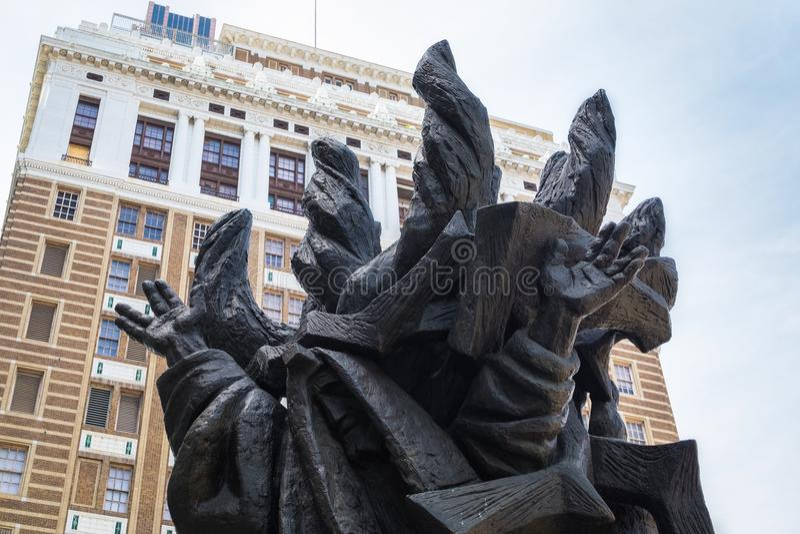 Holocaust sculpture. PHILADELPHIA, PENNSYLVANIA - APRIL 25, 2016: Details of the Holocaust sculpture in Philadelphia, Pennsylvania, USA stock images