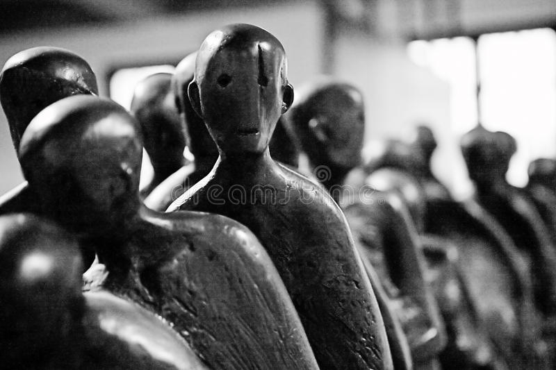 Holocaust-Skulptur stockfotografie