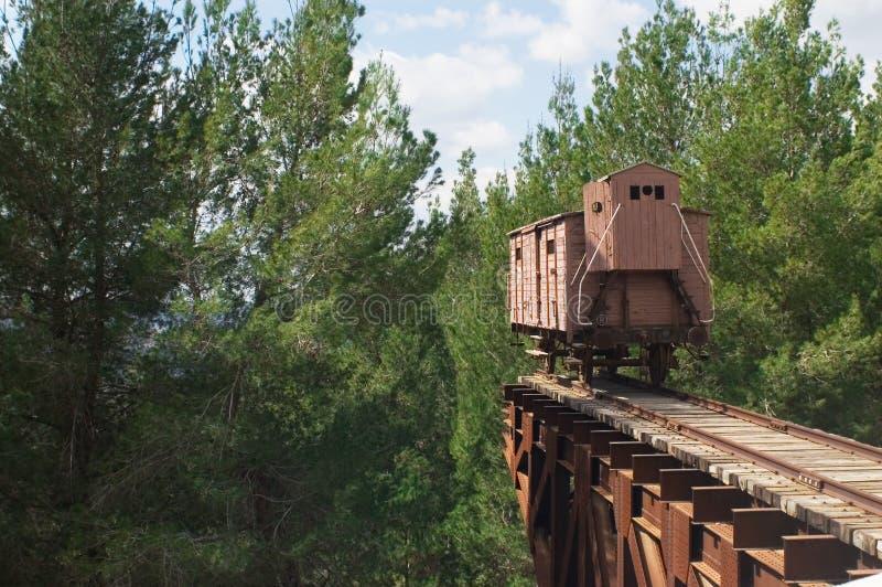 Holocaust train royalty free stock photo