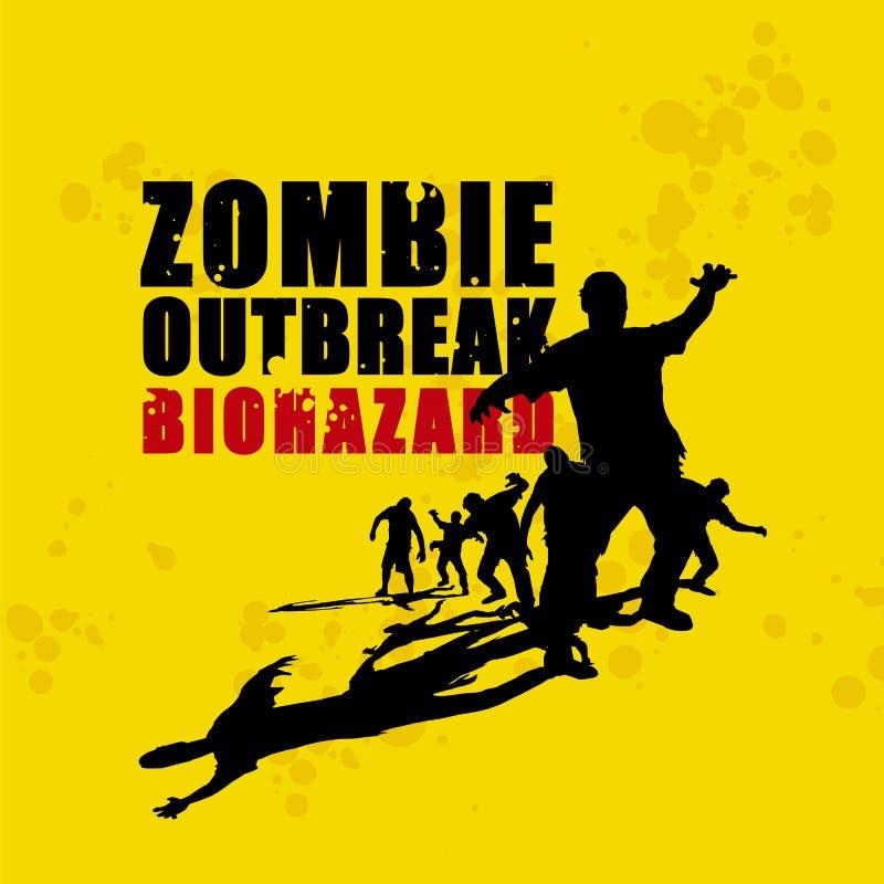 Holocauste 4 de zombi illustration de vecteur
