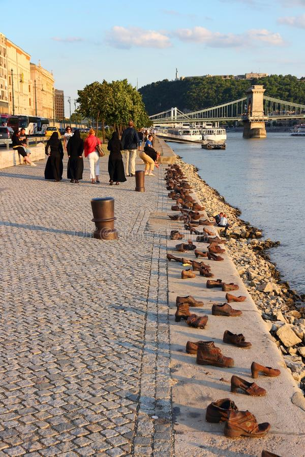 Holocaustgedenkteken, Boedapest stock afbeeldingen
