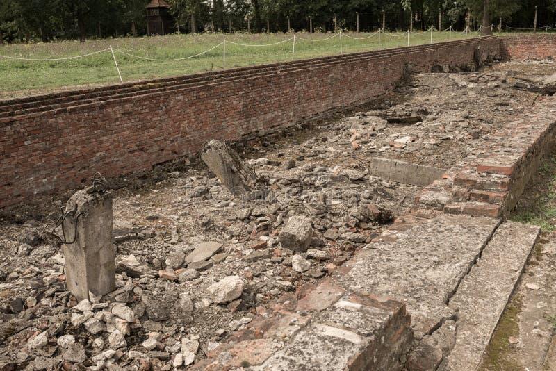 Holocausto Auschwitz conmemorativo - Birkenau - Polonia fotos de archivo