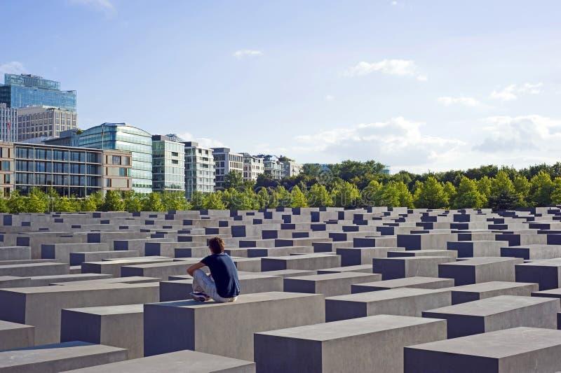 Holocausto Berlín conmemorativa, Alemania imagen de archivo