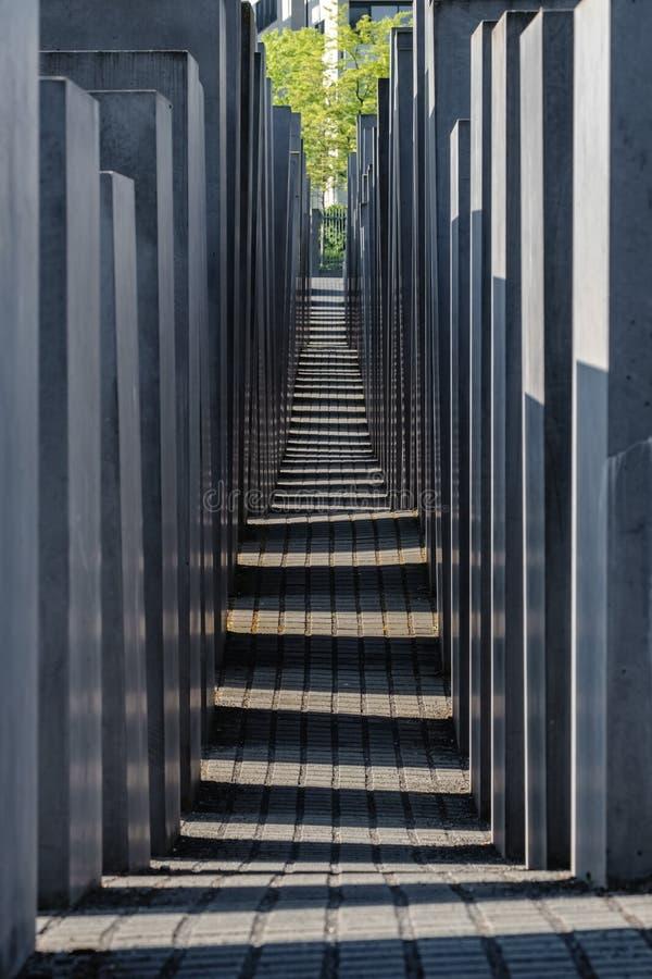 Holocausto Berlin Germany Memorial conmemorativo a los jud?os asesinados de Europa imagen de archivo